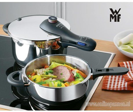wmf snelkookpan 22 cm perfect plus 4,5 liter wmf-snelkookpan-perfect-plus-sfeer