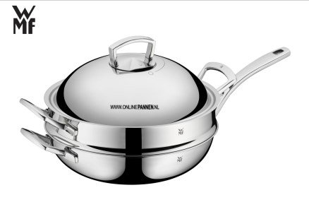 WMF Wok 32 cm multi steam 07 5351 6140 triply